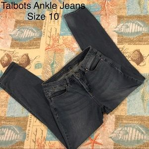 Talbots Curvy Ankle Blue Jeans Size 10